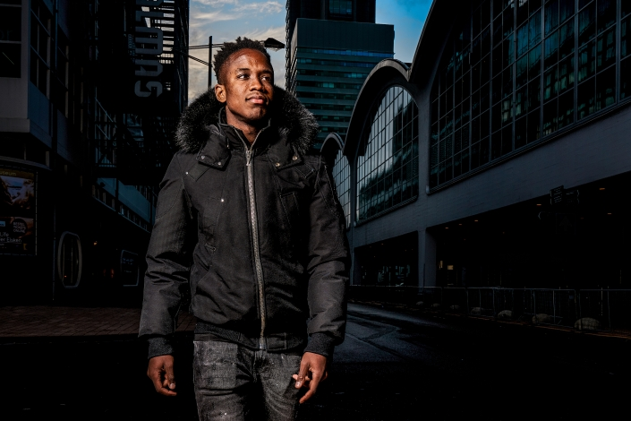 Luis Sinisterra of Feyenoord during a photoshoot on 04th of November in Rotterdam, The Netherlands
