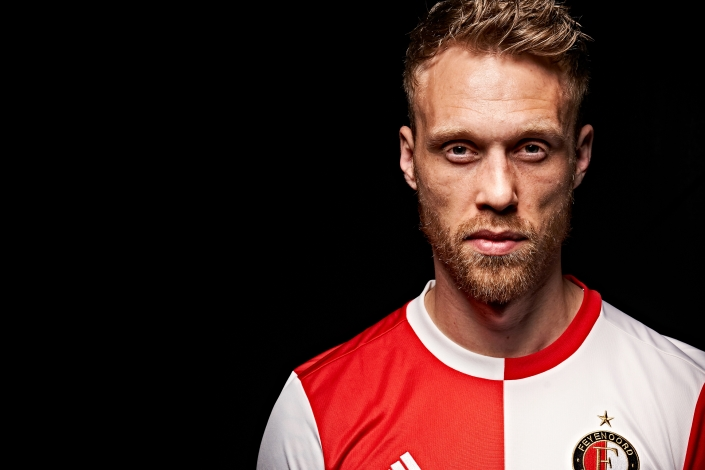 Nicolai Jorgensen of Feyenoord during a photoshoot on 06th of February in Rotterdam, The Netherlands
